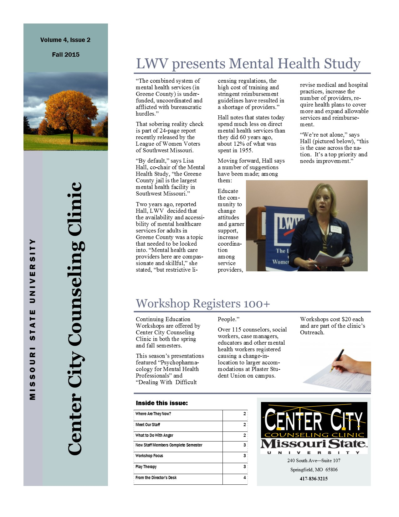 Clinic Newsletter - Fall 2015